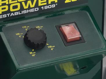 Adjustable Speeds from 90 � 150 rpm
