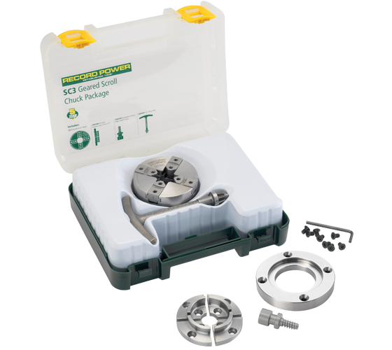 61065 SC3 Geared Scroll Chuck Package with 3
