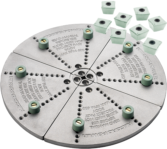 62377 Remounting Jaws Mega - Up to 295 mm Bowl (With Angular Buffer Stops)